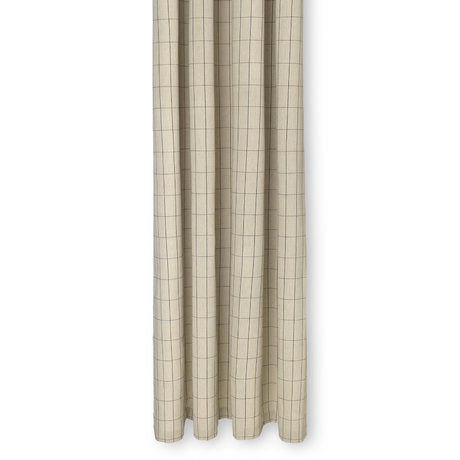 Ferm Living Shower curtain Chambray sand brown cotton 160x205cm