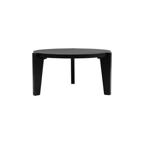 Housedoctor Table d'appoint Bali bois noir Ø80x40cm