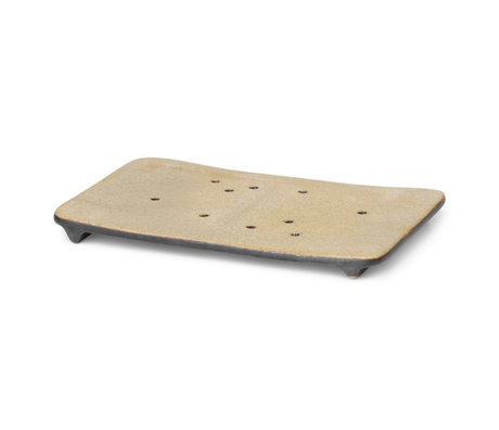 Ferm Living Zeepbakje Bon zwart porselein 12,5x8,9x0,9cm