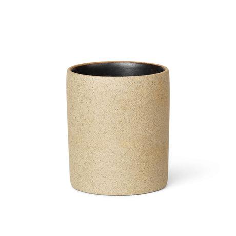 Ferm Living Cup small Bon black porcelain Ø5.5x6.5cm