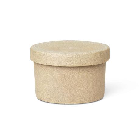 Ferm Living Support petit Bon porcelaine noire Ø9x6.5cm