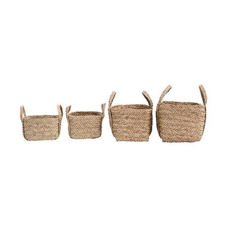 Housedoctor Basket Sikar 4er Set natürliches braunes Seegras