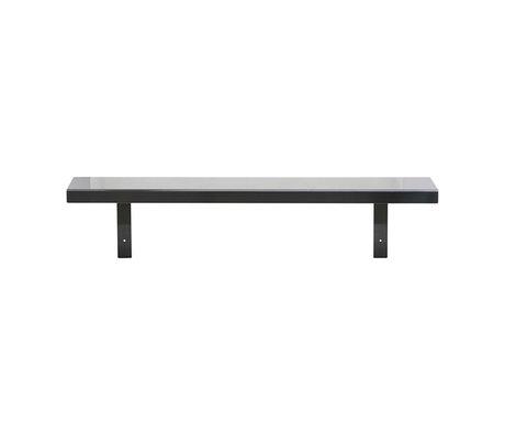 Housedoctor Wall shelf Raw black iron 100x22x22cm