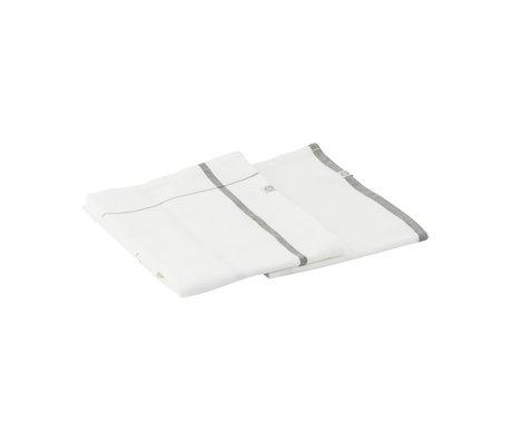 Housedoctor Geschirrtuch Halida weiß armeegrün Baumwolle 75x55cm