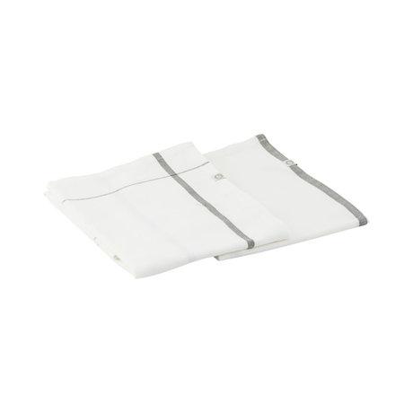 Housedoctor Tea towel Halida white army green cotton 75x55cm