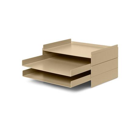 Ferm Living Organisateur de boîte aux lettres 2x2 cachemire beige métal 22.8x28.3x12.7cm