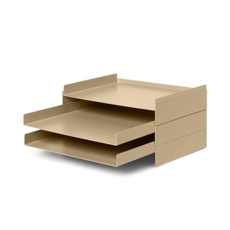 Ferm Living Postbak Organiser 2x2 cashmere beige metaal 22,8x28,3x12,7cm