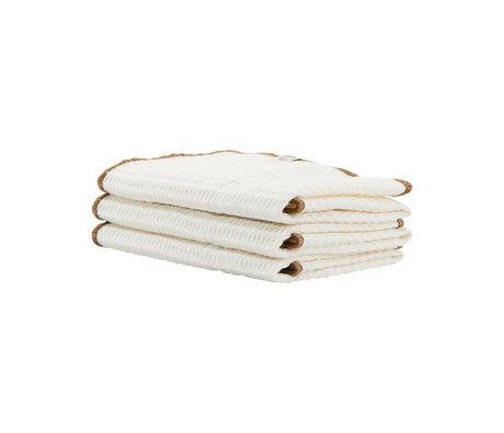 Housedoctor Dishcloth Bihar white nougat cotton 30x30cm