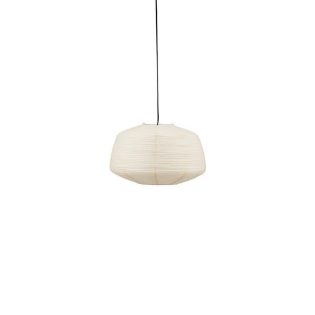 Housedoctor Lampenschirm Bidar sandweiß Reispapier Ø36x42cm
