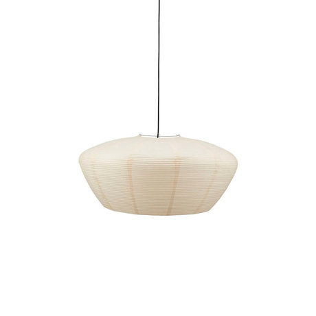 Housedoctor Lampenkap Bidar zand wit rijstpapier Ø81,5x38cm