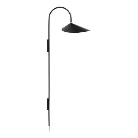 Ferm Living Wall lamp Arum black powder coated steel 43.8x25.6x127.1cm