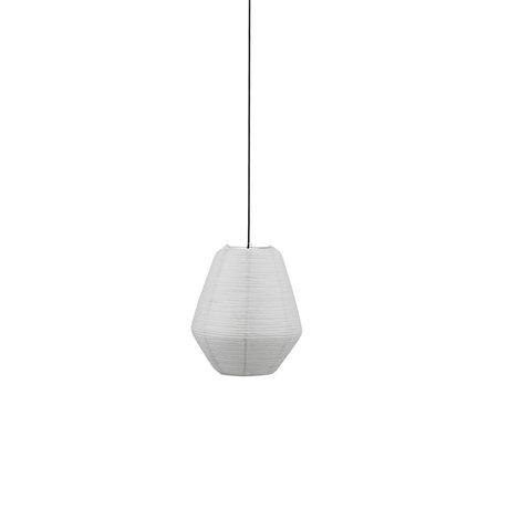 Housedoctor Lampenkap Bidar grijs rijstpapier Ø36x42cm