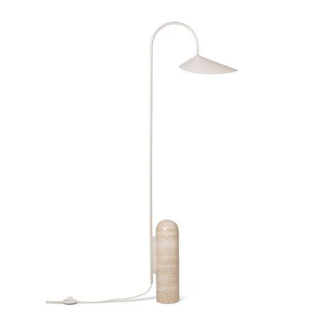 Ferm Living Floor lamp Arum cashmere beige powder-coated steel 25.6x41.9x136cm