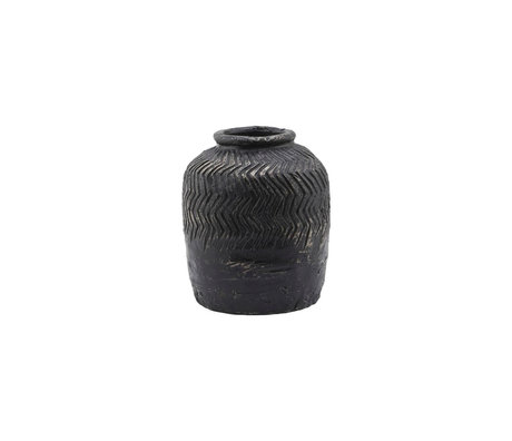 Housedoctor Vase Siliguri gris ciment Ø18x21cm