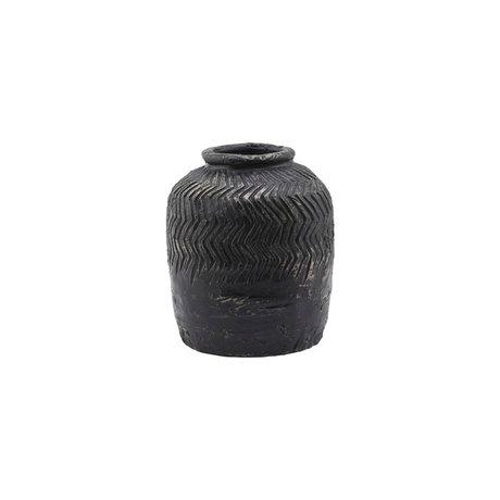 Housedoctor Vase Siliguri gray cement Ø18x21cm