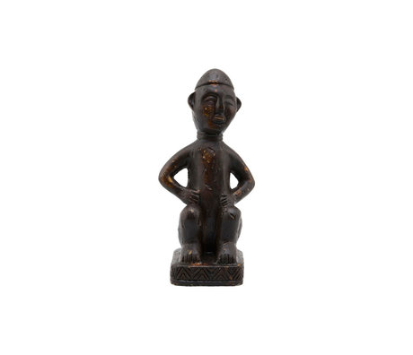 Housedoctor Ornament Figure brown cement 7x19cm