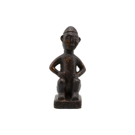 Housedoctor Ornament Figure bruin cement 7x19cm