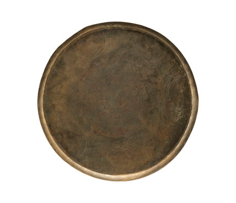 Housedoctor Jhansi tray antique gold aluminum Ø80x5cm
