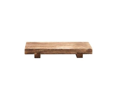 Housedoctor Craft Brown Paulownia Holz Tablett 36x22x5,5 cm