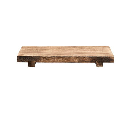 Housedoctor Dienblad Craft bruin paulownia hout 46x28x5,5cm