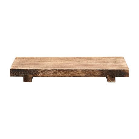 Housedoctor Craft Plateau en bois de paulownia marron 46x28x5,5 cm
