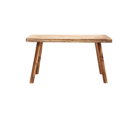 Housedoctor Bench Nadi brown paulownia wood 81x38x43cm