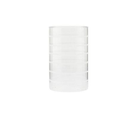 Housedoctor Teelichthalter Breeze Klarglas Ø10x16cm