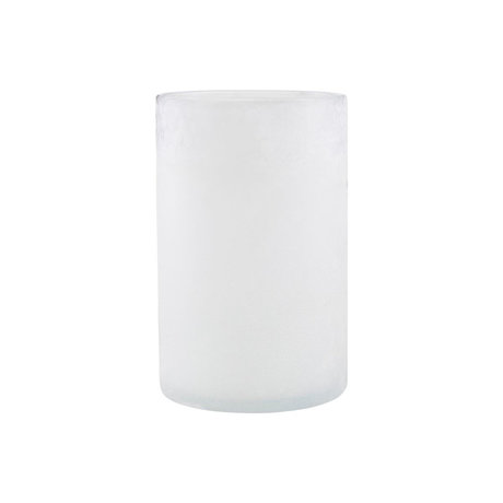 Housedoctor Tea Light Holder Mist white glass Ø13x19.5cm