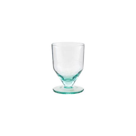 Housedoctor White wine glass Ganz green glass Ø7,8x11cm