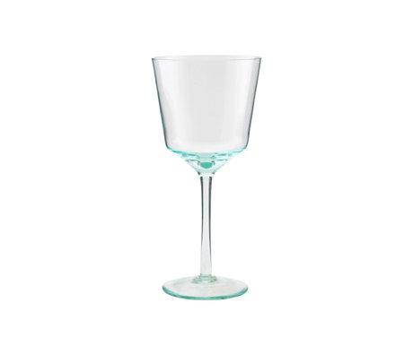 Housedoctor Rode wijn glas Ganz groen glas Ø10x21,5cm