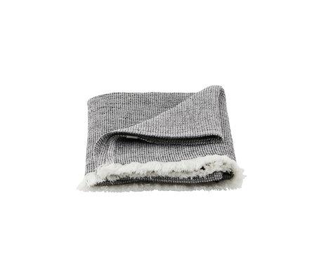 Housedoctor Handdoek Latur grijs gemeleerd katoen 100x50cm