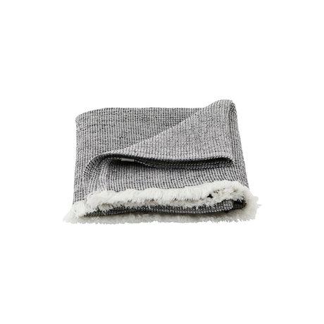 Housedoctor Handtuch Latur grau gemischte Baumwolle 100x50cm