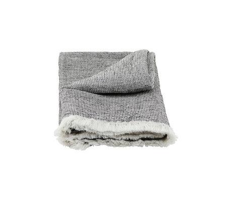 Housedoctor Handtuch Latur grau gemischte Baumwolle 140x70cm