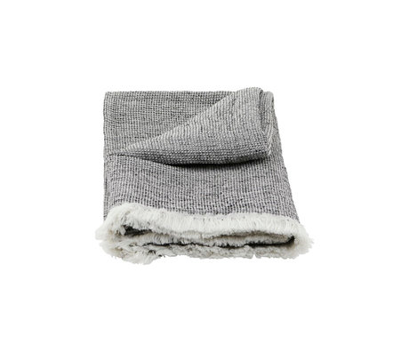 Housedoctor Towel Latur gray mixed cotton 140x70cm