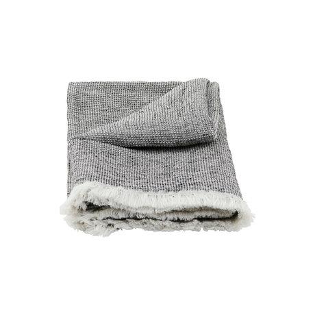 Housedoctor Handdoek Latur grijs gemeleerd katoen 140x70cm