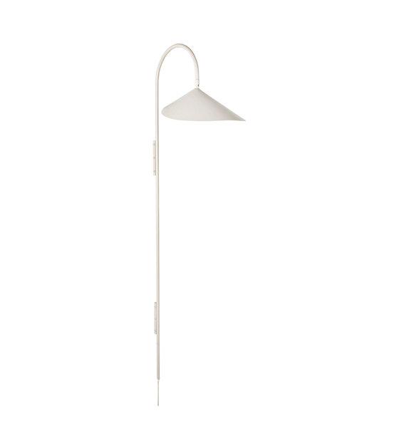 Wandlamp Arum cashmere beige gepoedercoat staal 43,8x25,6x127,1 cm