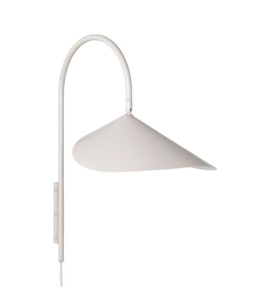 Wandlamp Arum cashmere beige gepoedercoat staal 25,6x43,8x47,1cm
