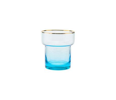 Housedoctor Verre en verre bleu clair Indora Ø9x10cm