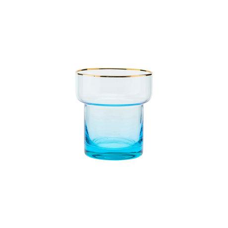 Housedoctor Glass of Indora light blue glass Ø9x10cm