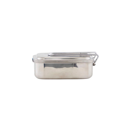 Housedoctor Lunchbox Boxit zilver roestvrij staal 17x13x6,5cm