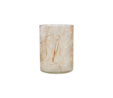 Housedoctor Teelichthalter Raipur beige braun Ø8x12cm