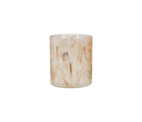 Housedoctor Teelichthalter Raipur beige braun Ø8x10cm
