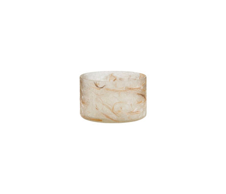 Housedoctor Teelichthalter Raipur beige braun Ø8x5cm