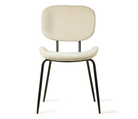 HK-living Chaise de salle à manger crème velours côtelé métal 48x62,5x85,5cm