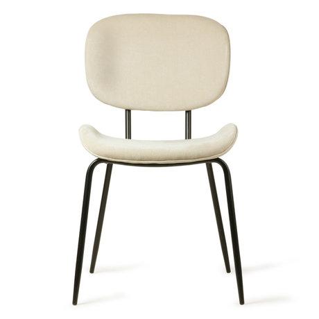 HK-living Dining chair cream corduroy metal 48x62,5x85,5cm