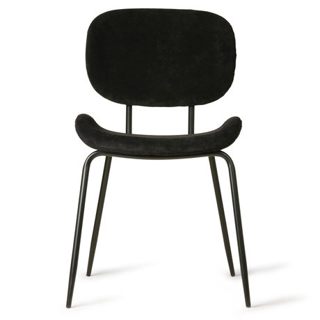 HK-living Dining room chair black corduroy metal 48x62.5x85.5cm