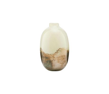 Housedoctor Vase Erde mehrfarbiges Glas Ø9.7x16.2cm