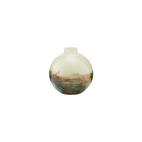 Housedoctor Vase Earth verre multicolore Ø9,6x11,4cm