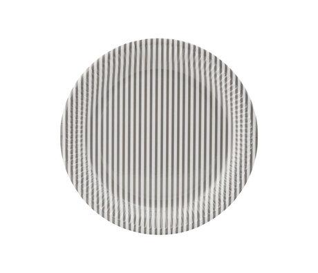 Housedoctor Papierenbord Stribe 1 licht grijs papier Ø23cm