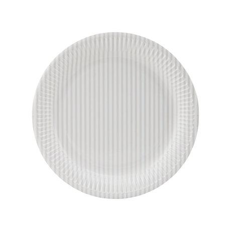 Housedoctor Assiette en carton Stribe 2 papier nude blanc crème Ø23cm